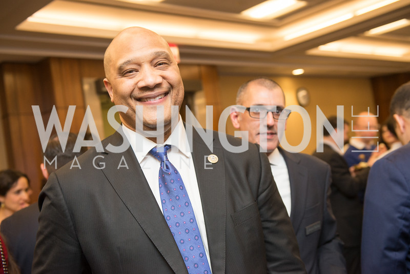 Rep. Andre Carson,  Capitol Hill Nowruz Reception, hosted by PAAIA, March 19, 2018, photo by Ben Droz.