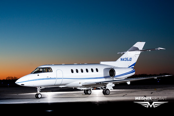 Hawker 800XP N435JD (High Res w/Logo)