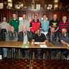 Members of Newry and District Darts League who took part in their AGM held in the Hunter Moore Memorial Hall. RS1531003