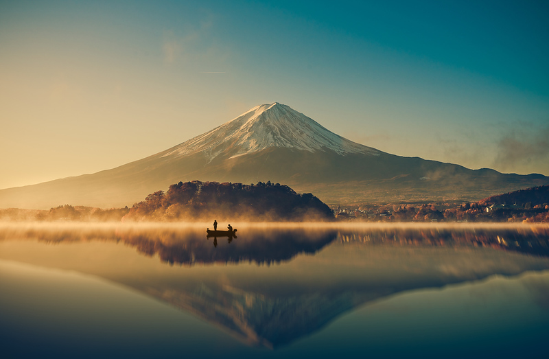 Mt Fuji over Lake Kawaguchi-ko. Editorial credit: Focus Stocker / Shutterstock.com