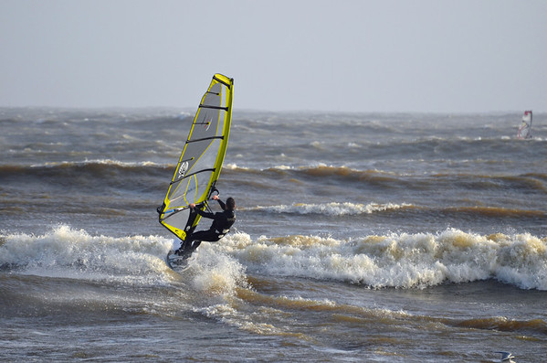 Sailboarders are loving the winter storms!