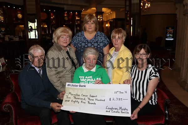 PROCEEDS FROM COFFEE MORNING PRESENTED TO MACMILLAN CANCER SUPPORT