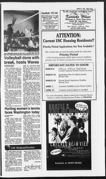 Daily Trojan, Vol. 124, No. 33, March 03, 1995