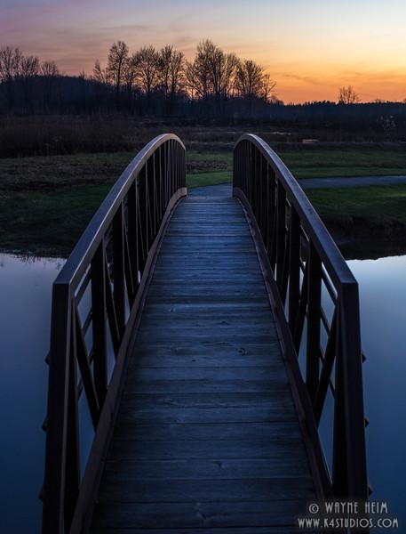 Sunset Bridge Photography by Wayne Heim