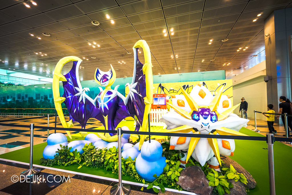 Pokémon at Changi Airport - Sun and Moon Legendary Lunala and Solgaleo
