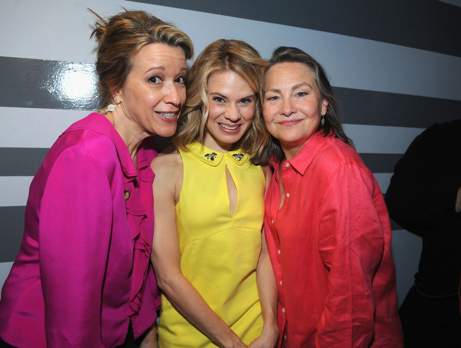 . (L-R) Actors Linda Emond, Celia Keenan-Bolger and Cherry Jones attend the 2014 Tony Awards Meet The Nominees Press Reception at the Paramount Hotel on April 30, 2014 in New York City.  (Photo by Brad Barket/Getty Images for Tony Awards Productions)