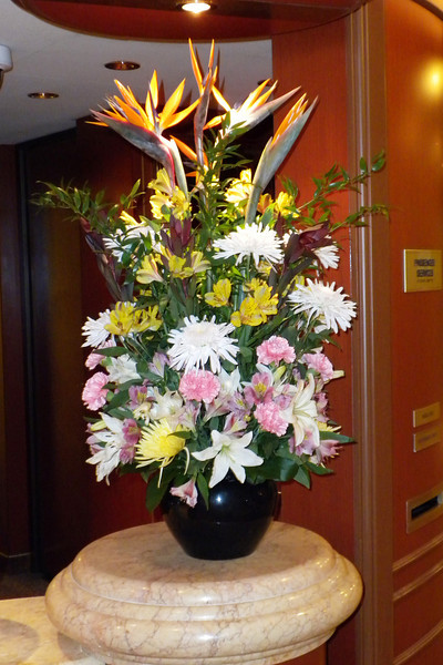 Fresh flowers at the main desk