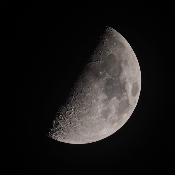 53% waxing gibbous moon