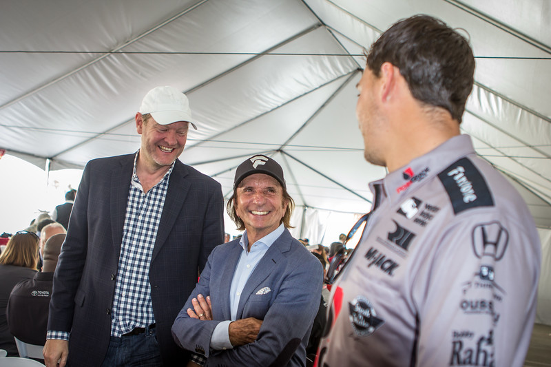 Tommy Kendall, Emerson Fittipaldi, Graham Rahall at the Media Luncheon