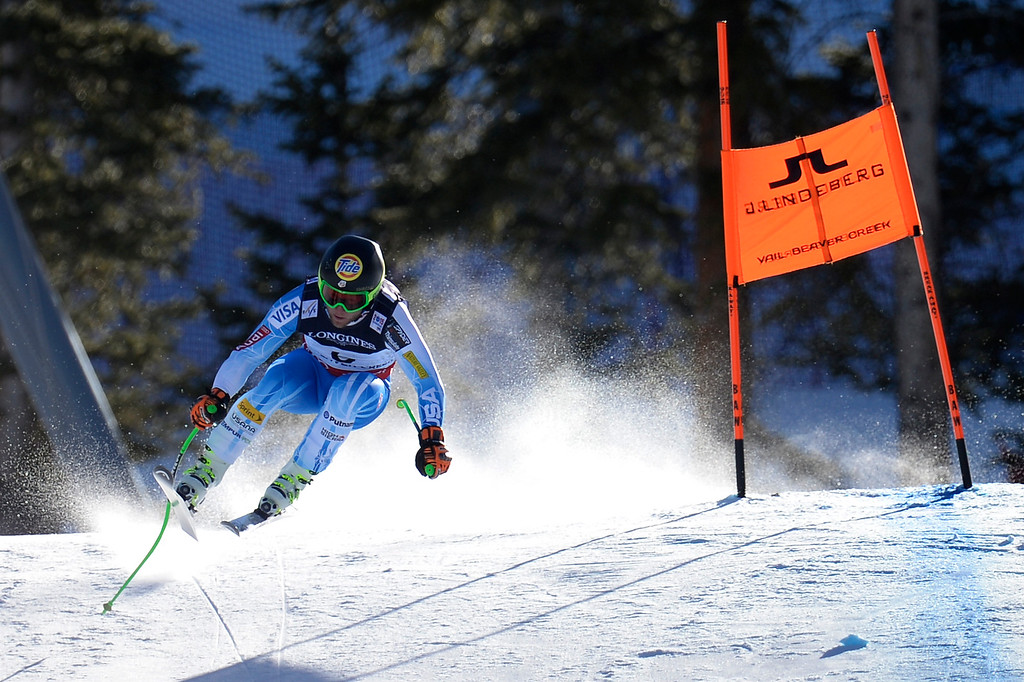 . BEAVER CREEK, CO - FEBRUARY 08: USA skier Andrew Weibrecht competes during the men\'s alpine combined final. FIS Alpine World Ski Championships 2015 on Sunday, February 8, 2015. (Photo by AAron Ontiveroz/The Denver Post)