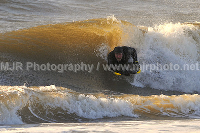 Surfing, Gilgo Beach, NY, (12-31-07)