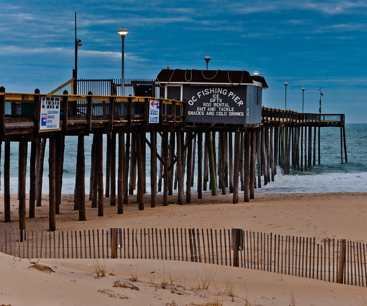 The fishing pier at Ocean City, Maryland