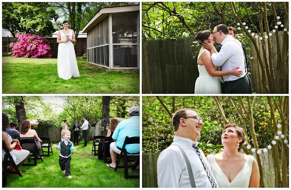 A sweet little backyard wedding