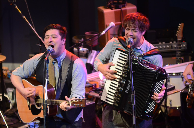 MUMFORD AND SONS AT WORLD CAFE 20TH ANNIVERSARY SHOW