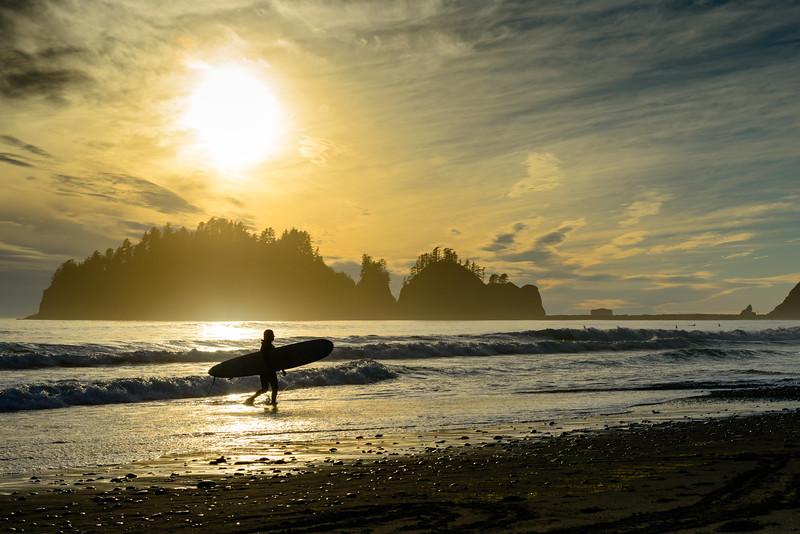 A Surfer at First Beach