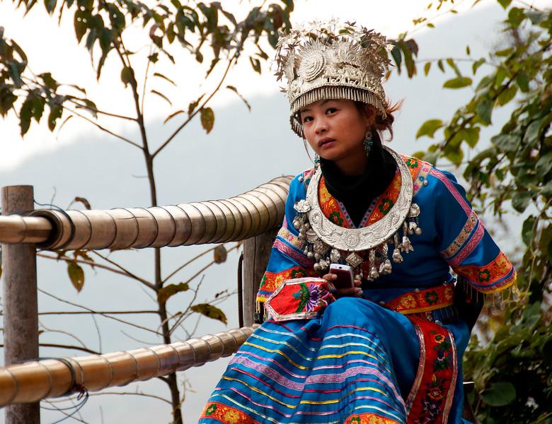 Tourist photo model, Pin An, China