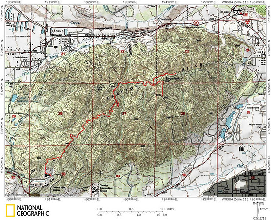 Crafton Hills Run 2.12.11 - The college to Zanja Peak and back