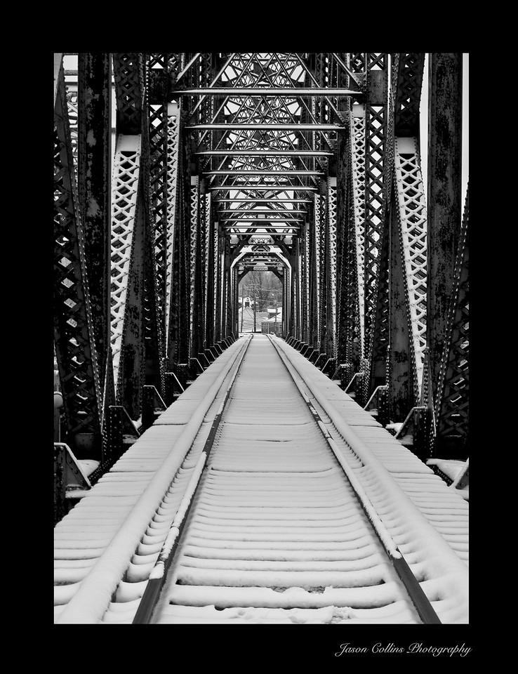 Frankfort Rail Road Bridge - Black Background