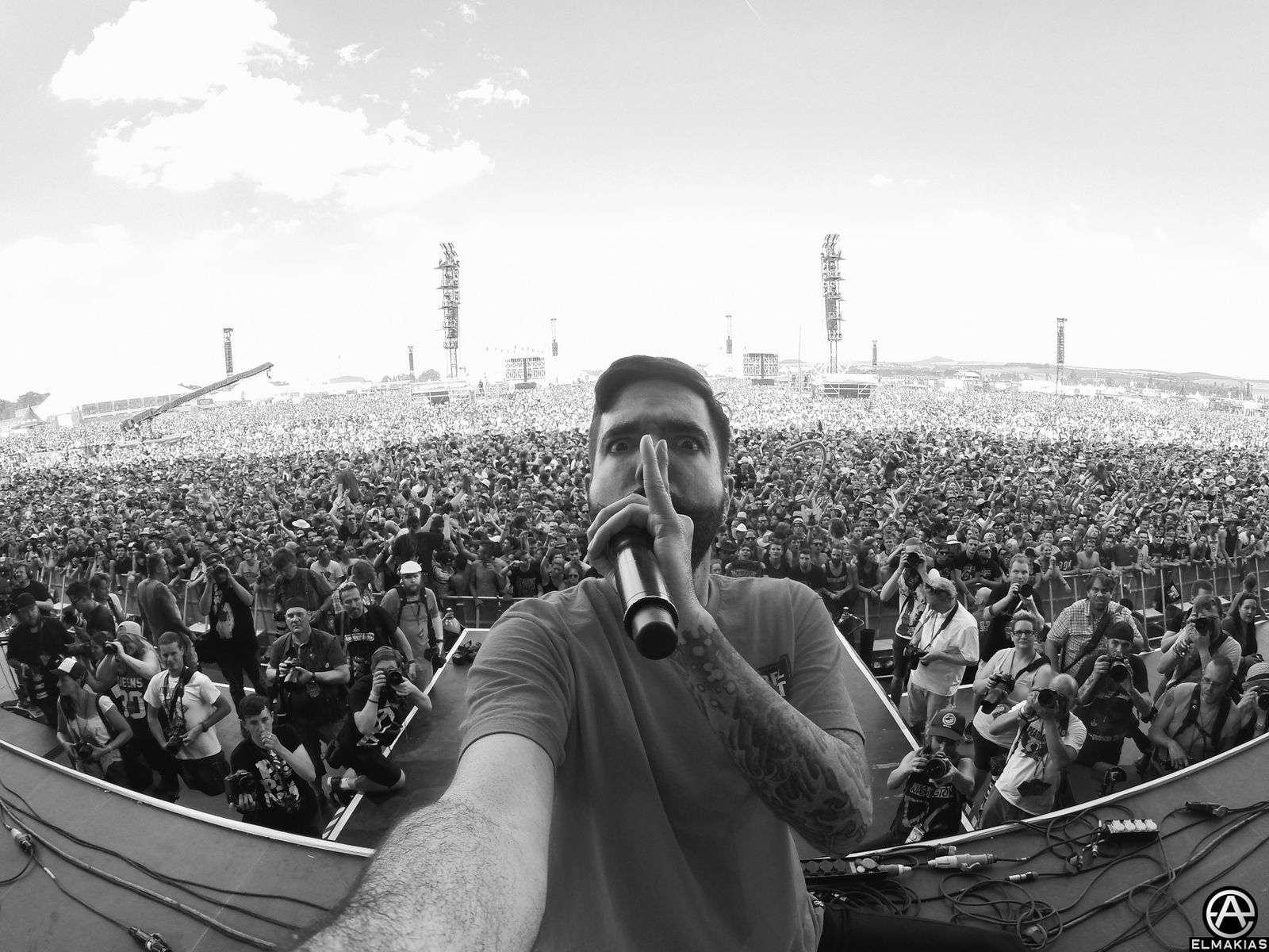 Jeremy McKinnon of A Day To Remember live at Rock AM Ring
