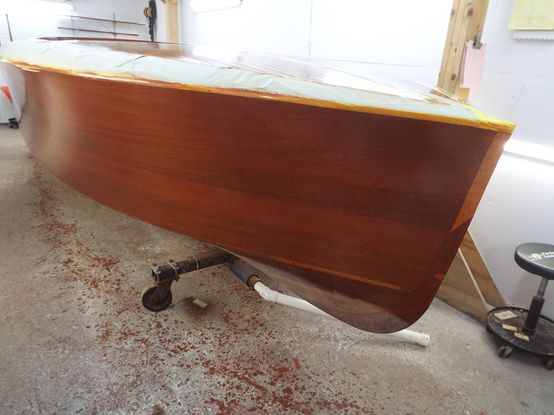 First sealer coat on the starboard side.