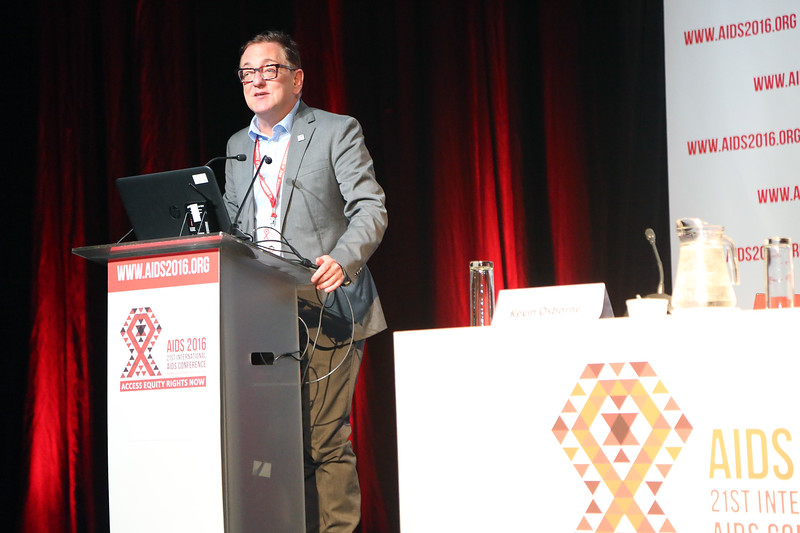 21st International AIDS Conference (AIDS 2016), Durban, South Africa. AIDS 2016 Pre-Conference Report Back (FRSS02) Friday 22nd July 2016 : Venue - Durban ICC - Session Room 7 Kevin Osborne, International AIDS Society (IAS), Switzerland  Photo©International AIDS Society/Abhi Indrarajan