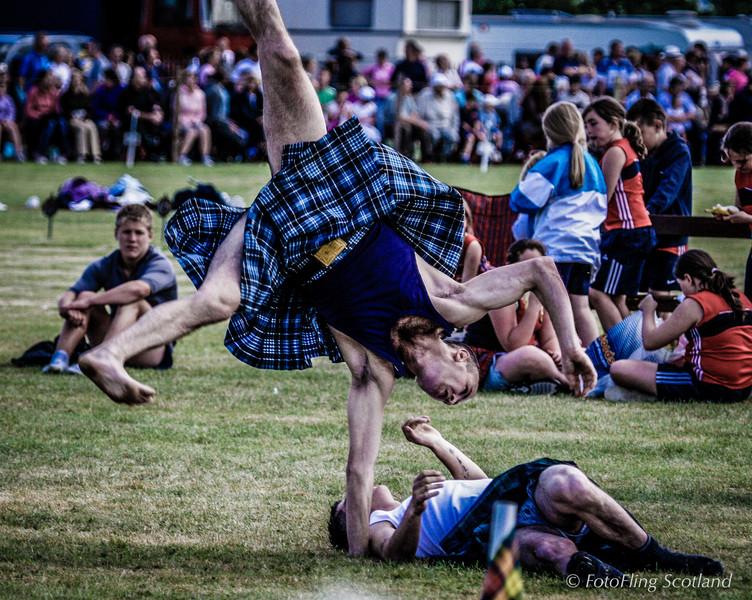 Scottish Backhold Wrestling at Bridge of Allan