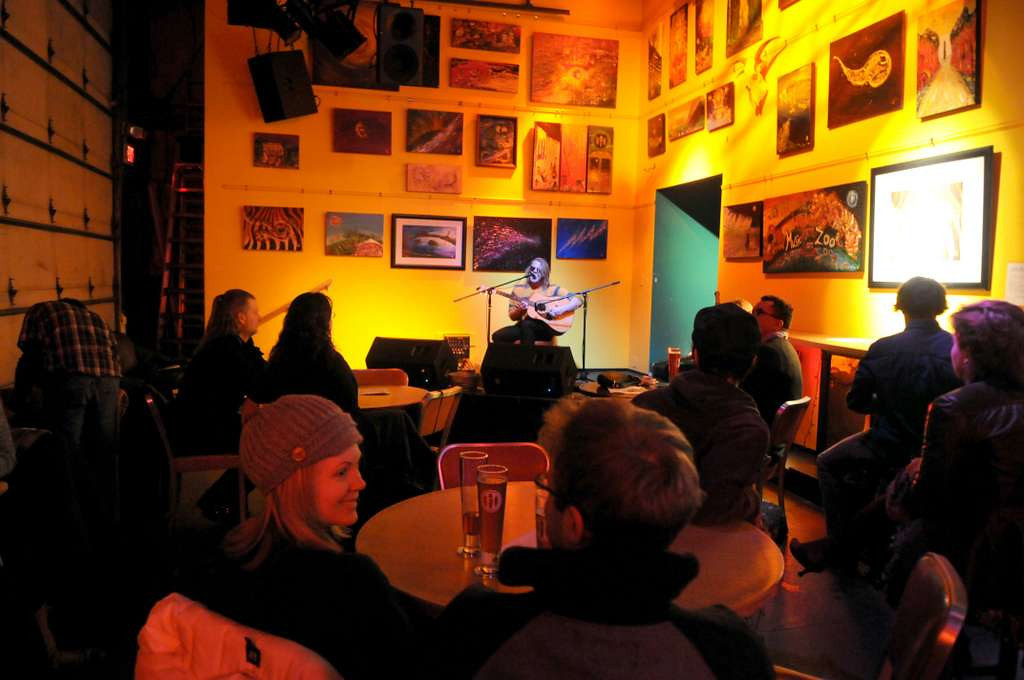 . Harriet Brewing has live music a few nights a week. On a Saturday in January, Sebastian Love performs. (Pioneer Press: Sherri LaRose-Chiglo)