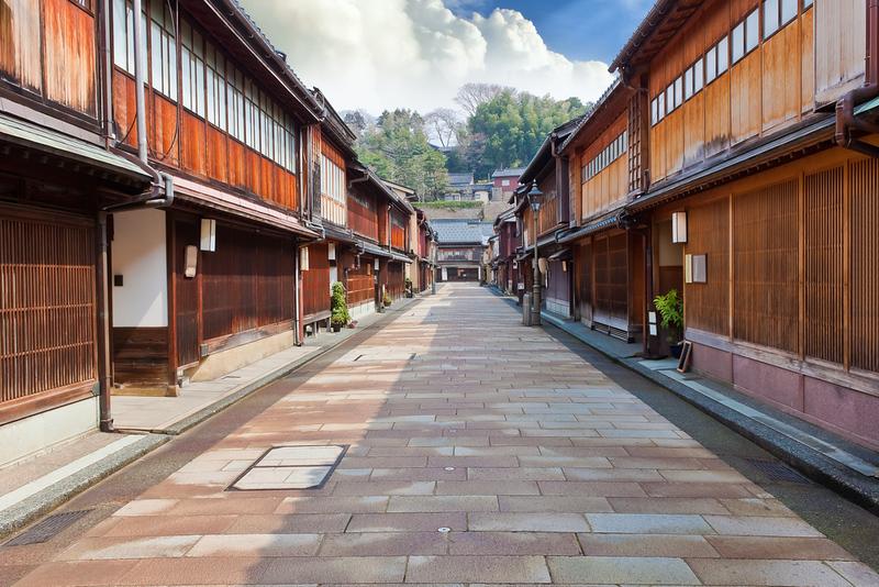 Higashi-Chaya-gai Geisha District in Kanazawa
