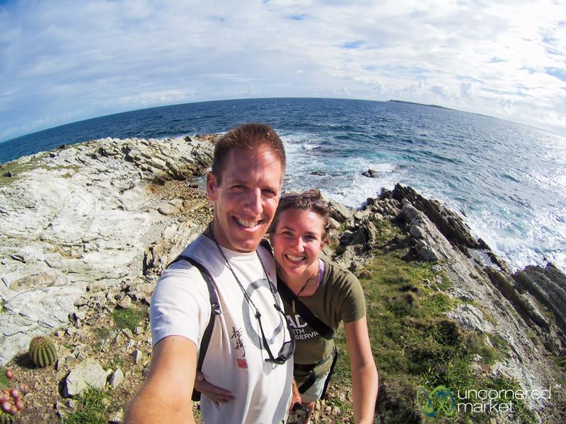 Dan and Audrey at Northern Coast of St. Martin