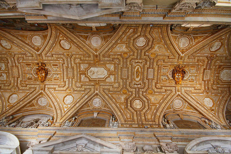 Vatican porch ceiling