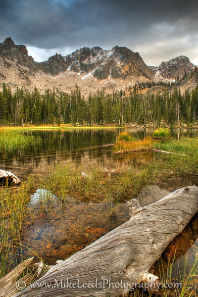 Lower Cramer Lake in the Sawtooth Mountains, Idaho. HDR