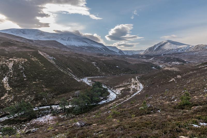 Gleann Eanaich seen from the high path