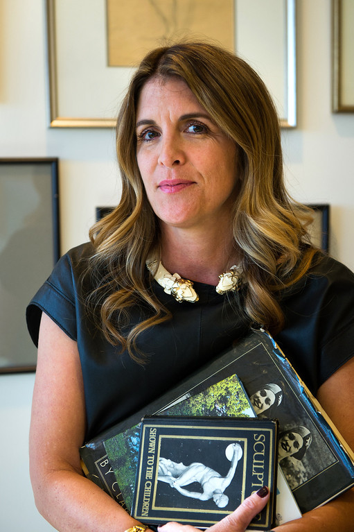 . Andrea Stanford, general manager of Hunters Alley in the Beverly Hills office. Hunters Alley launches its new resale website January 22 with a selection of pre-owned furnishings and art starting at $25. (Photo by Michael Owen Baker/L.A. Daily News)