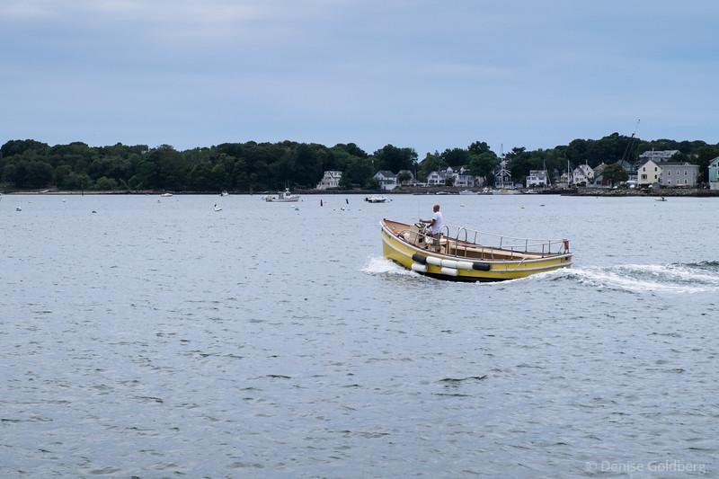 a boat in Salem Harbor