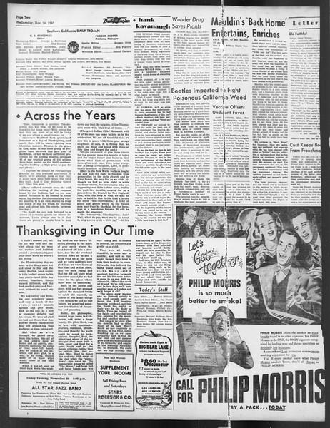 Daily Trojan, Vol. 39, No. 52, November 26, 1947