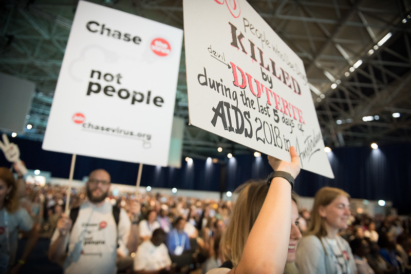 22nd International AIDS Conference (AIDS 2018) Amsterdam, Netherlands   Copyright: Marcus Rose/IAS  Photo shows: Plenary Session. Leaving no one behind: a call to action Yana Panfilova, Teenergizer, Ukraine
