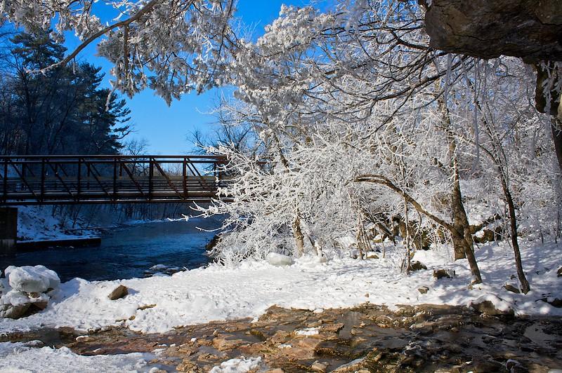 Willow River below the falls.