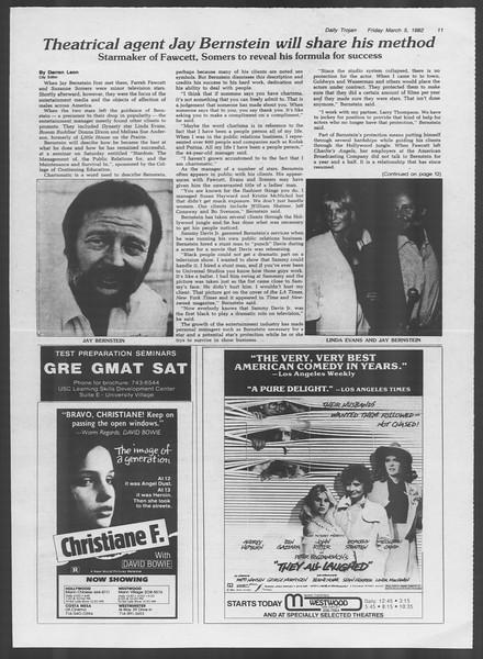 Daily Trojan, Vol. 91, No. 36, March 05, 1982