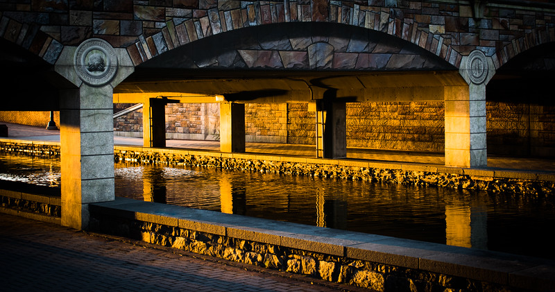 Firelight at Mural Bridge