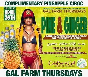 GAL FARM THURSDAYS PRESENTS PINE & GINGER