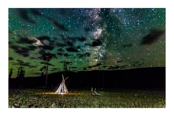 Night Skies Over The East Fork Blacks Fork River Valley Utah