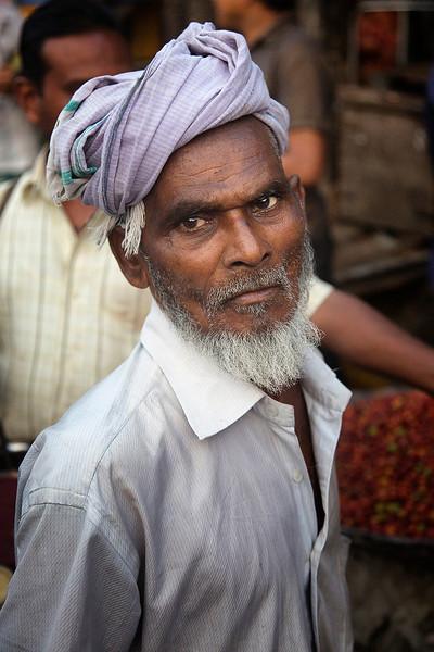 Man at Vegetable market