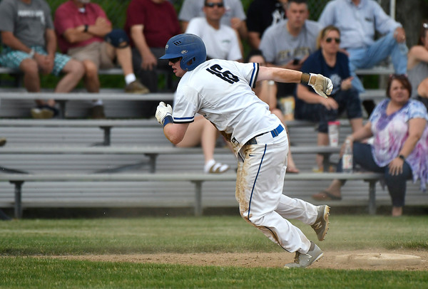 5/29/2018 Mike Orazzi | Staff St. Paul's Christopher Mills (16) during Tuesday's Class S First Round baseball game with Housatonic Regional in Bristol.