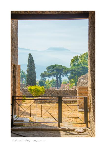 Mt. Vesuvius from the ruins of Pompeii