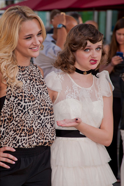 HOLLYWOOD, CA - JULY 15: Actresses Haley King and  Joey King arrive at the Los Angeles Premiere 'The Conjuring' at ArcLight Cinemas Cinerama Dome on Monday, July 15, 2013 in Hollywood, California. (Photo by Tom Sorensen/Moovieboy Pictures)