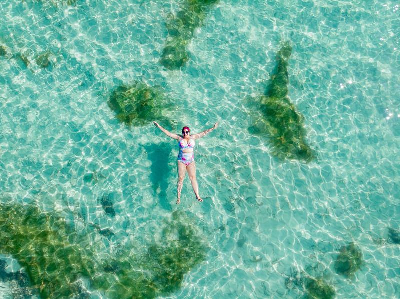Swimming in Media Luna, Vieques