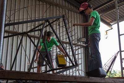 Bloemencorso 2013 - Wagenbouw (14 augustus)