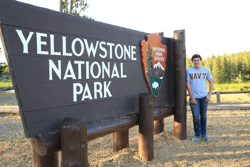 Jared enjoyed his first trip to Yellowstone.
