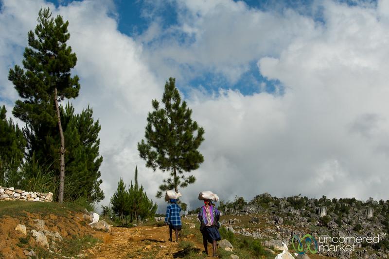 Walking Home from Market - Rural Haiti