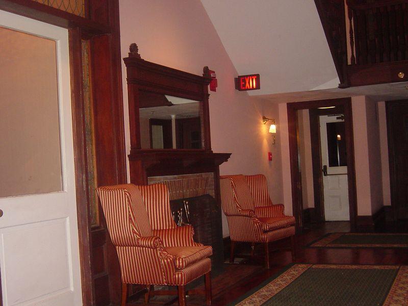 Foyer at Sans Souci (ca 1896), Jekyll Island Club, Jekyll Island, Georgia.
